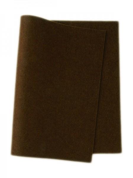 Wollfilz dunkelbraun • 100 % reine Wolle