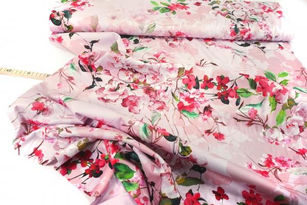 Baumwollsatin • Stretch • Cherry Blossom • altrosa
