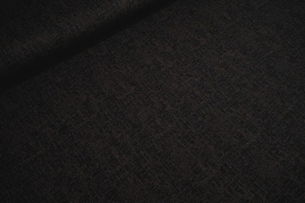 Romanit Jersey Punta di Roma mini kupfermetallic Punkte auf schwarz