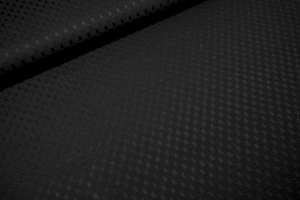 Jacquard elastisch schwarze Kreise auf schwarz