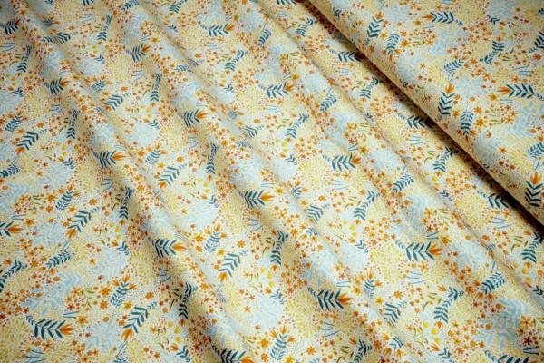 Blend Fabrics Cori Dantini Fall Goodness Flower Skeletons White