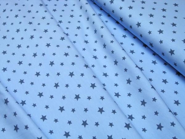 Jersey Little Darling Sterne blau auf hellblau