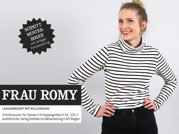 FRAU ROMY • Rollkragenshirt, Papierschnitt, Deckblatt