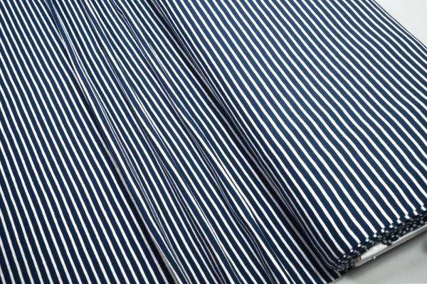 Jersey Little Darling dunkelblau weiß gestreift Baumwoll Jersey
