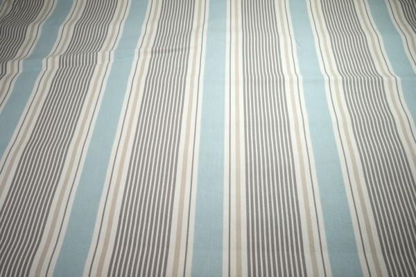 Clarke & Clarke Canvas Sail Stripe mineral Streifen Baumwollstoff