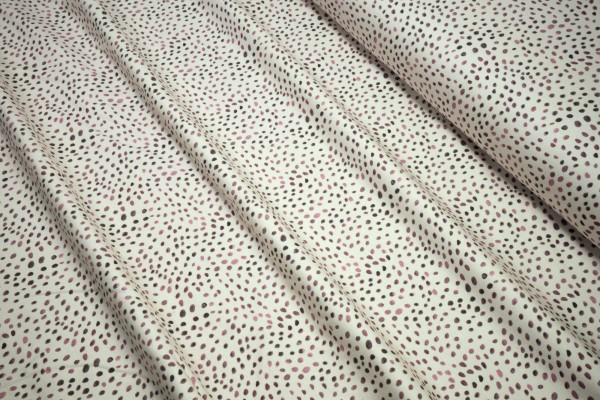Baumwoll Jersey Mini Winter Tupfen auf creme