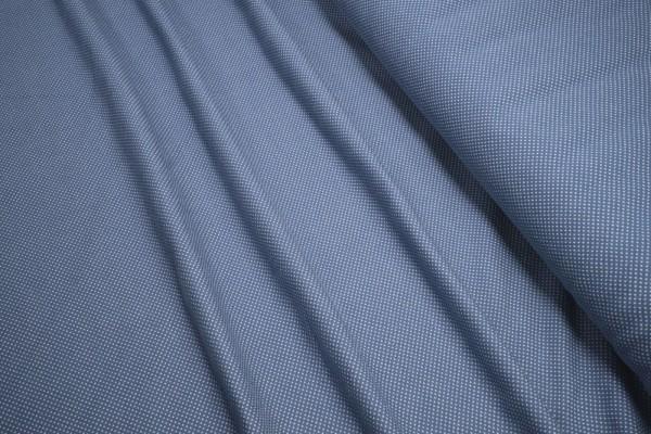 Jacquard Strick weiß auf graublau