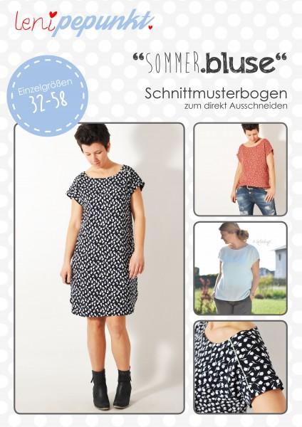 90 SOMMER.bluse,Papierschnitt,Leni Pepunkt,Deckblatt mit Beispielbildern von Blusen und Kleid