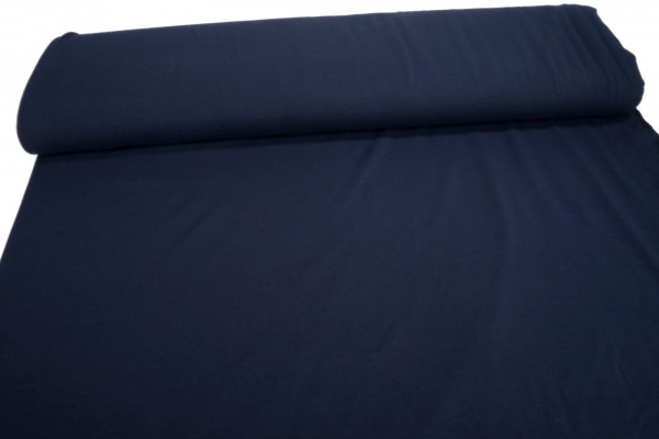 Jersey Black Yarn marine blau Baumwoll Jersey meliert