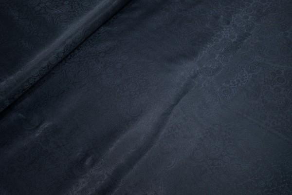 Futterstoff • Taft • Jacquard • Paisley dunkelblau