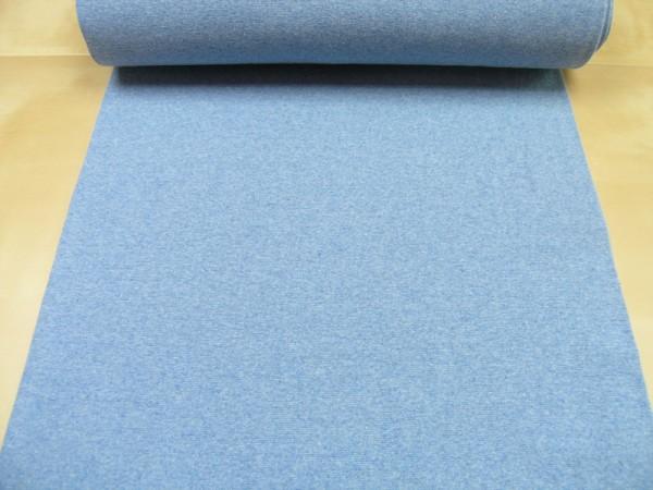 Bündchen hellblau meliert Baumwoll Jersey glatt uni OEKO-TEX® Standard 100