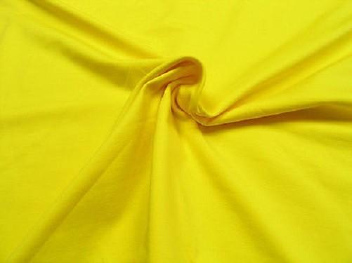 Baumwoll Jersey uni gelb