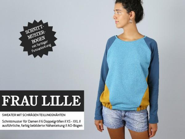 FRAU LILLE • Raglansweater, Papierschnitt Deckblatt
