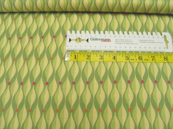 Clothworks Seedheads olive large Geo Baumwoll Stoff