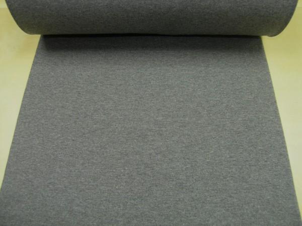 Bündchen dunkelgrau meliert Baumwoll Jersey glatt OEKO-TEX® Standard 100