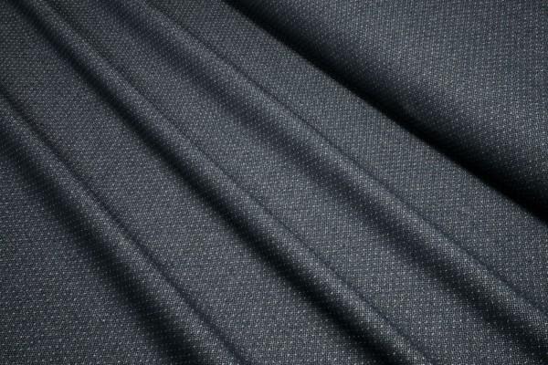 Doubleface Baumwollgemisch Timo Pünktchen dunkelblau weiß made in Italy