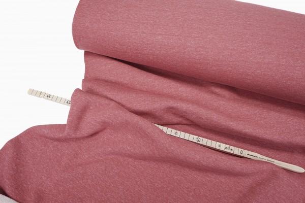 Sweatshirt Stoff • aufgeraut • ziegelrot melange