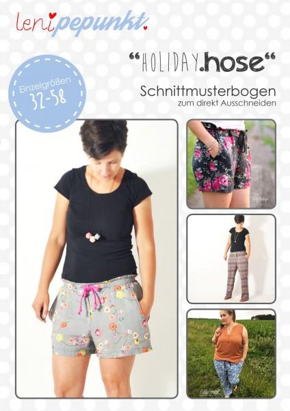 95 HOLIDAY.hose,Papierschnitt,Leni Pepunkt,Deckblatt mit Beispielbildern von Frauen in gemusterten Hosen