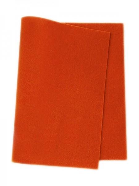 Wollfilz orange • 100 % reine Wolle