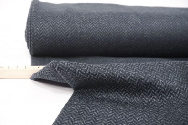 Tweed Diego Fischgrat blau made in Italy