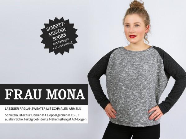 FRAU MONA • Raglansweater, Papierschnitt, Deckblatt