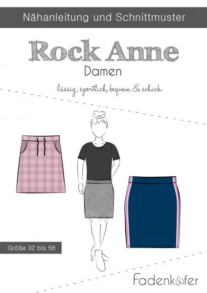 Rock Anne Damen,Papierschnitt,Fadenkäfer,Deckblatt mit Skizzen