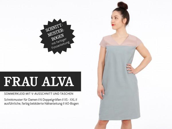 FRAU ALVA Sommerkleid mit V-Ausschnitt, Papierschnitt, Deckblatt