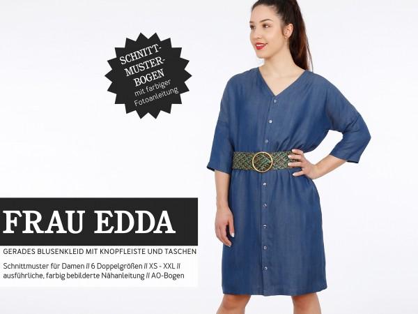 FRAU EDDA gerades Blusenkleid, Papierschnitt, Deckblatt