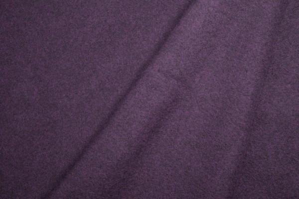 Baumwollfleece uni dunkelbordeaux melange